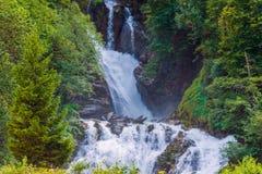 Scenic Swiss Waterfalls Stock Photo
