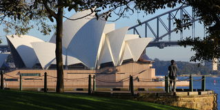 Lookout point at Sydney Opera House scenery Stock Photo