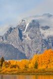 Scenic Teton Autumn Landscape Stock Image
