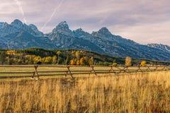 Scenic Teton Autumn Landscape Royalty Free Stock Photography