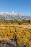 Scenic Teton Autumn Landscape Royalty Free Stock Photos