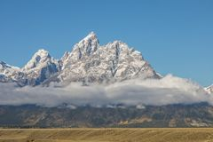 Scenic Teton Autumn Landscape. A scenic landscape of the tetons in Wyoming in autumn Stock Photos