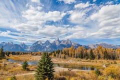 Scenic Teton Fall Landscape Royalty Free Stock Photography
