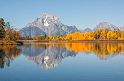 Scenic Teton Fall Reflection Royalty Free Stock Photo