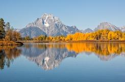 Scenic Teton Fall Reflection Royalty Free Stock Photo