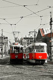 Scenic Tour of Prague, historical tram. Stock Photography