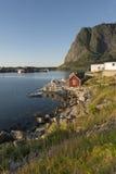 Scenic town of Reine on Lofoten Islands i Stock Photos
