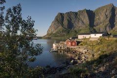Scenic town of Reine on Lofoten Islands i Stock Photo