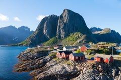 Scenic town of Reine  village, Lofoten islands, Royalty Free Stock Image