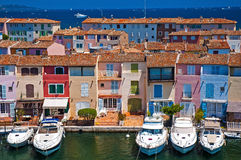 Scenic traditional houses and harbour Stock Images