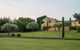 Scenic traditional stone house in Provence Stock Photo