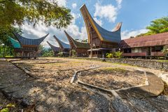 Scenic traditional village in Tana Toraja Royalty Free Stock Photography