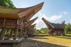 Scenic traditional village in Tana Toraja Royalty Free Stock Images