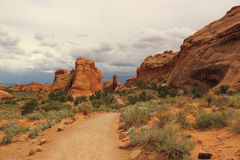 Scenic trail. Arches National Park, Utah, USA Stock Image