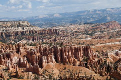 Scenic Trail through Hoodoos at Bryce Canyon National Park. Scenic trail and vista of interesting geological formations of Hoodoos at Bryce Canyon National Park Stock Image