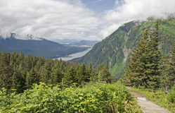 Scenic trail in Juneau Alaska Royalty Free Stock Images