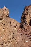 Scenic hike in Eilat Mountains. Stock Image