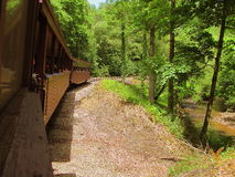 Scenic train drive. Through a forest Royalty Free Stock Photos