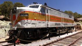 Scenic Train, Grand Canyon Railway Station, United States. Scenic train at the Grand Canyon Railway Station, tourist attraction. Arizona, United States stock photo
