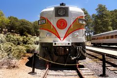 Scenic Train, Grand Canyon Railway Station, United States. Scenic train at the Grand Canyon Railway Station, tourist attraction. Desert mountains landscape royalty free stock photography