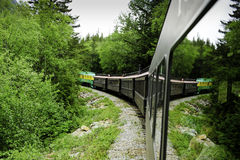Scenic train from Skagway to White Pass Alaska Stock Photos