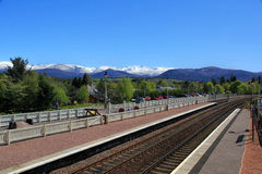 Scenic Train station Stock Images