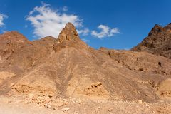 Scenic triangular rocks in stone desert Royalty Free Stock Image