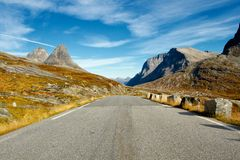 Scenic Trollstigen road in Norway Royalty Free Stock Images