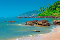 Scenic tropical beach Stock Images