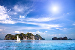 Scenic tropical island in the Indian Ocean Stock Images