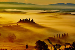 Scenic Tuscany landscape with rolling hills Royalty Free Stock Image