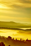 Scenic Tuscany landscape with rolling hills Stock Image