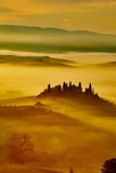 Scenic Tuscany landscape with rolling hills Stock Photography
