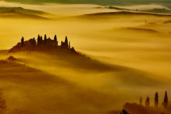 Scenic Tuscany landscape with rolling hills Stock Images