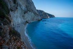 Scenic and unique beach Porto Kaziki at Levkada island, Greece Stock Photo
