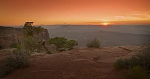 Scenic Utah Sunset Royalty Free Stock Photography