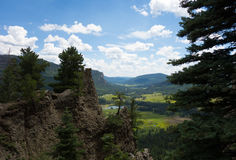 A scenic valley as seen from a high altitude in colorado Stock Image