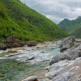 Scenic valley landscape. Albania royalty free stock photo