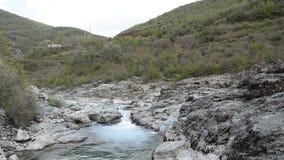 Scenic valley landscape. Albania. Europe stock video