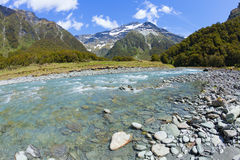 Scenic valley in New Zealand Royalty Free Stock Images