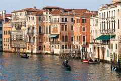 Scenic Venice view from a bridge over the Grand Canal Royalty Free Stock Images