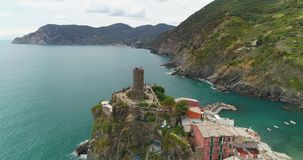 Scenic Vernazza Village stock footage
