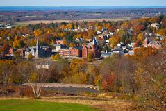 Scenic Vernon and Ellington CT Fall View royalty free stock photo