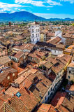 Scenic vertical view of Lucca village in Italy Royalty Free Stock Photos