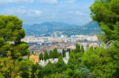 Scenic view from above of Nice, France royalty free stock images