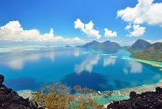 Scenic view from above taken from Bohey Dulang Royalty Free Stock Photography