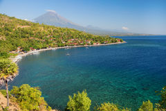 Scenic view of Agung volcano from Amed village Royalty Free Stock Image
