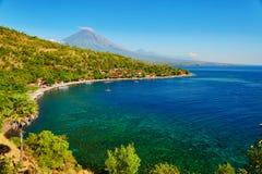 Scenic view of Agung volcano, Bali, Indonesia Stock Image