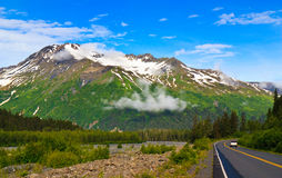 Scenic View Alaska Highway Royalty Free Stock Photo