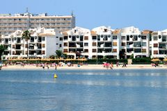 Scenic view of Alcudia beach Royalty Free Stock Photos